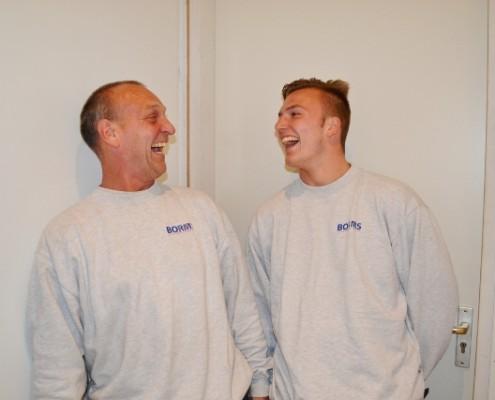 Richard en Brian Borms altijd vrolijk Borms Elektrotechniek